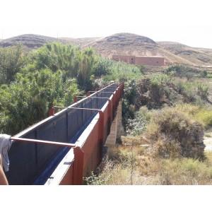 Impermeabilización canal riego